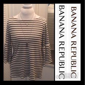 Banana Republic striped bell sleeve top medium